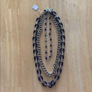 Lia Sophia Navy Wayfarer Necklace NEW